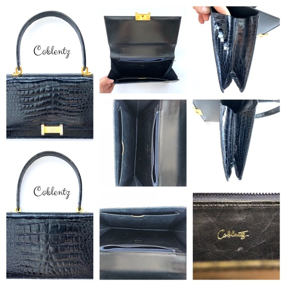 Coblentz Handbags - SOLD! Coblentz Women Black Alligator Handbag Purse